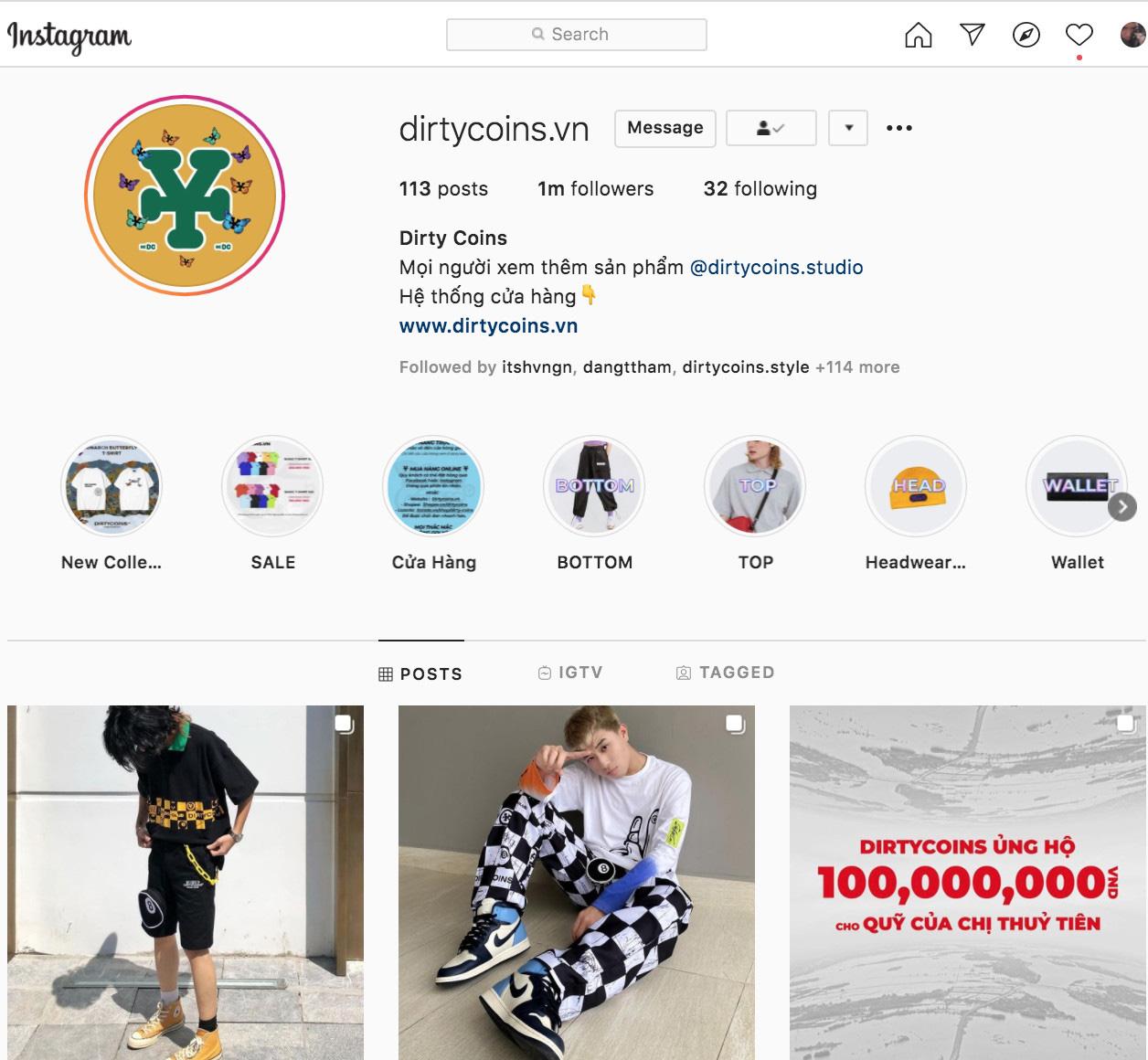 """Giải mã độ """"hot"""" của Dirty Coins - thương hiệu Việt chạm mốc 1 triệu lượt theo dõi trên Instagram - Ảnh 1."""