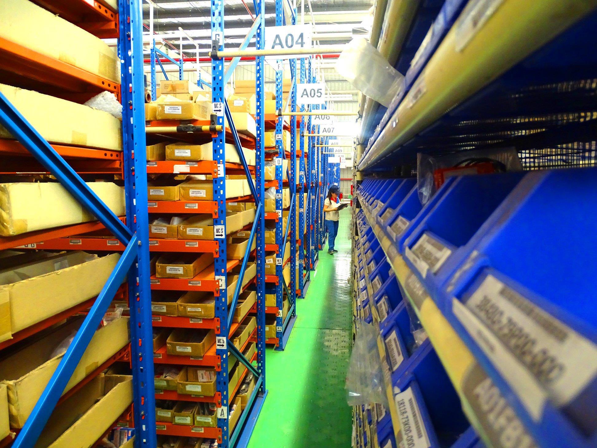 3 kho phụ tùng lớn của Suzuki ở miền Bắc và miền Nam dự trữ hơn 510.000 chi tiết phụ tùng