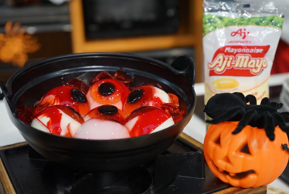 Hào hứng làm bánh mochi con ngươi, trứng nhện chào Halloween - Ảnh 9.