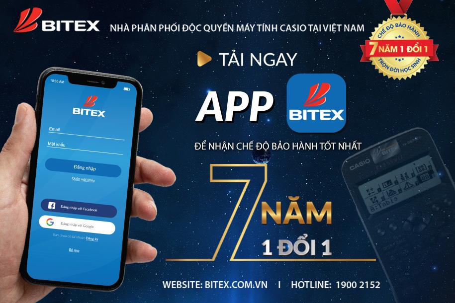 App BITEX - Bảo hành chính hãng Casio tận 7 năm siêu nhanh và dễ - Ảnh 1.