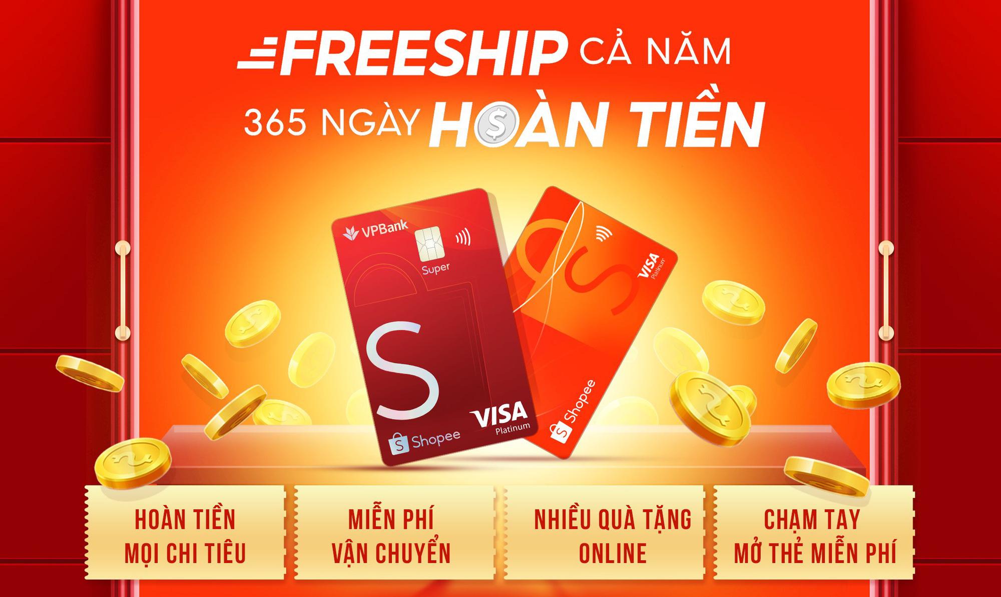 Trên tay thẻ tín dụng VPBank - Shopee: Ưu đãi freeship và hoàn tiền đến 10% - Ảnh 3.