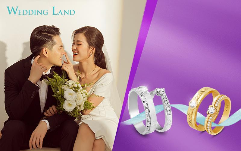 Mua nhẫn cưới kim cương tự nhiên Wedding Land giá chỉ từ 6 triệu đồng - Ảnh 1.