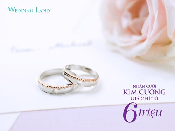 Mua nhẫn cưới kim cương tự nhiên Wedding Land giá chỉ từ 6 triệu đồng - Ảnh 2.