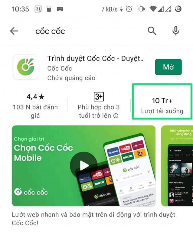 """Đâu là điểm """"khác biệt"""" giúp Cốc Cốc Mobile đạt mốc 10 triệu lượt tải về trên CH Play? - Ảnh 1."""