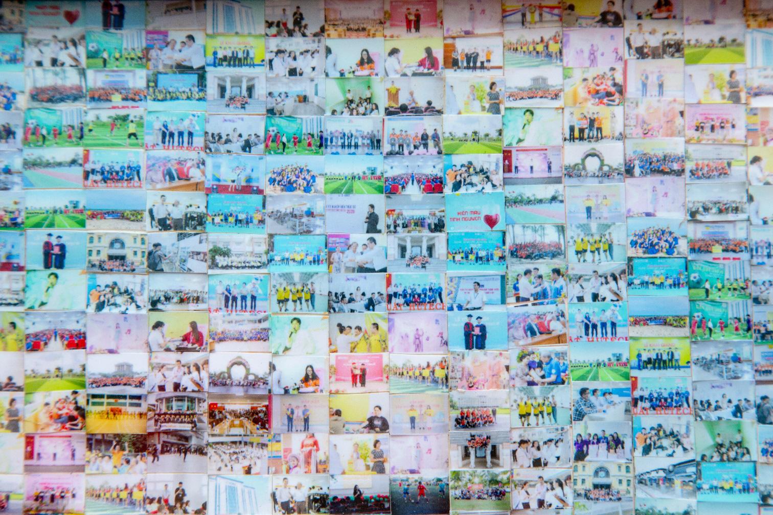 """Trường kỷ niệm 25 năm thành lập, sinh viên """"chơi lớn"""" ghép tranh chúc mừng từ 3.600 tấm ảnh - Ảnh 2."""