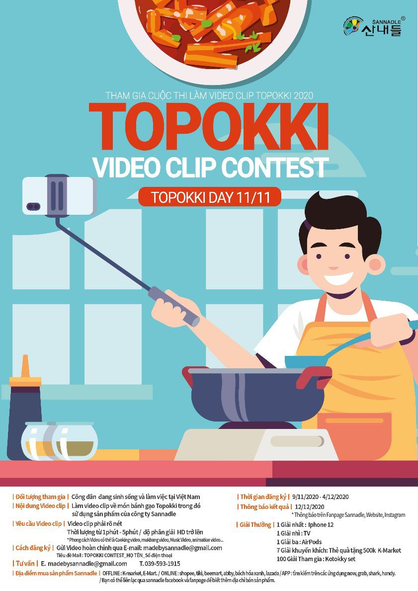 """Cuộc thi """"Topokki video clip contest 2020"""" - Cơ hội rinh về iPhone 12 cực hot - Ảnh 1."""
