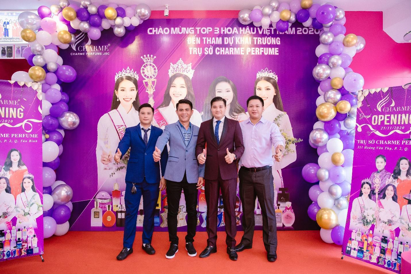 Top Hoa hậu Việt Nam 2020 đến chúc mừng nước hoa Charme khai trương trụ sở công ty tại TP.HCM - Ảnh 2.