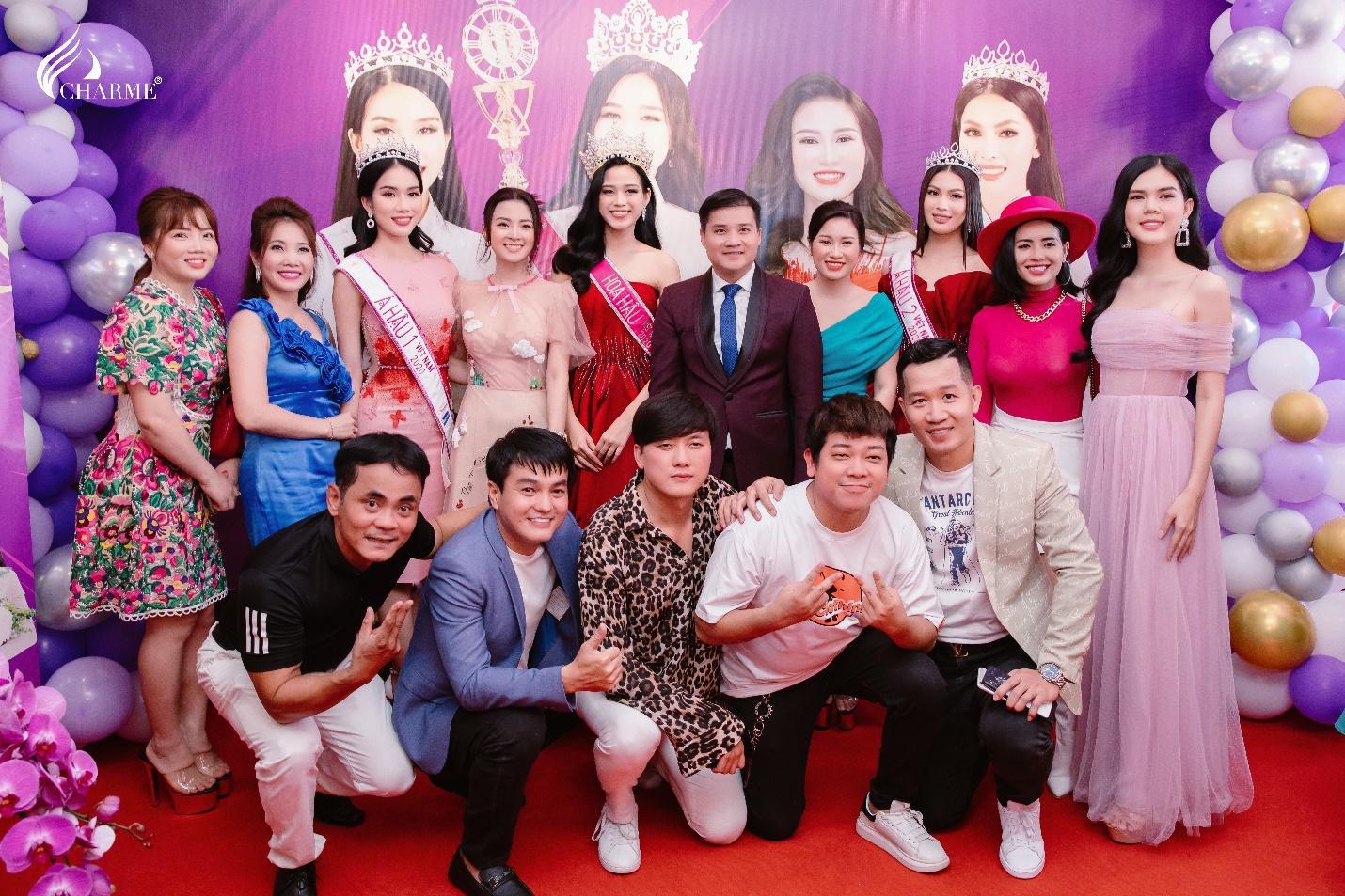 Top Hoa hậu Việt Nam 2020 đến chúc mừng nước hoa Charme khai trương trụ sở công ty tại TP.HCM - Ảnh 3.