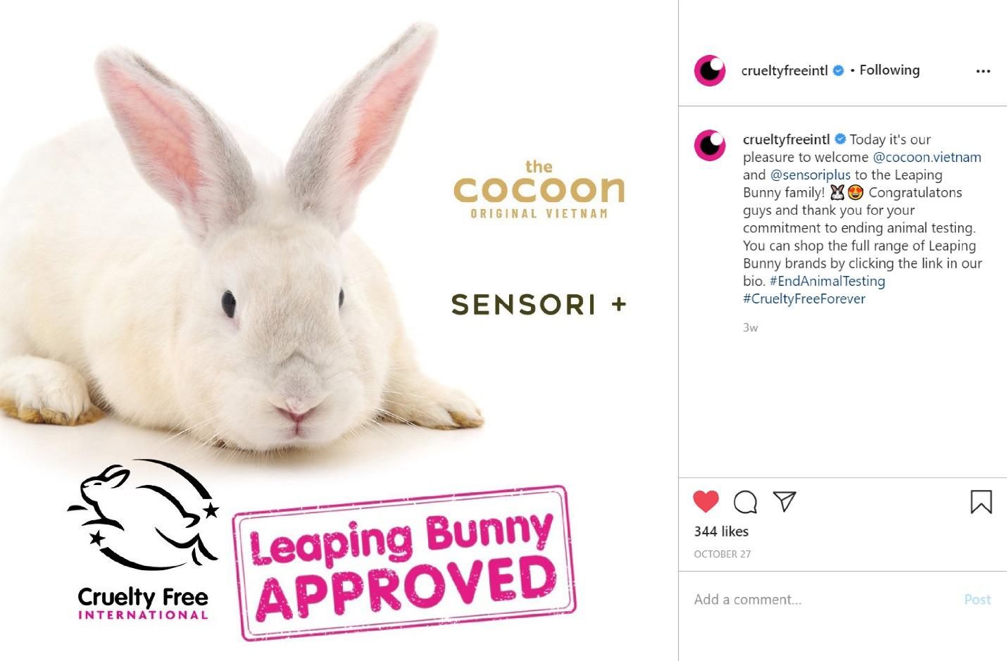 Cocoon - Mỹ phẩm Việt đầu tiên góp mặt trong danh sách không thử nghiệm trên động vật của Leaping Bunny - Ảnh 3.