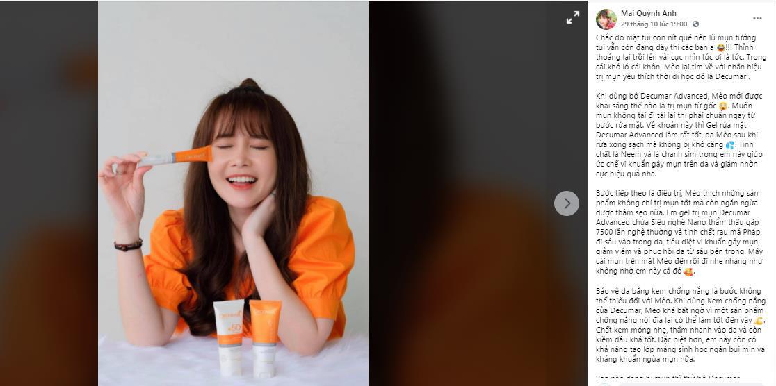 """Hot girl Mai Quỳnh Anh được """"khai sáng"""" việc chăm da mụn từ gốc như thế nào? - Ảnh 2."""