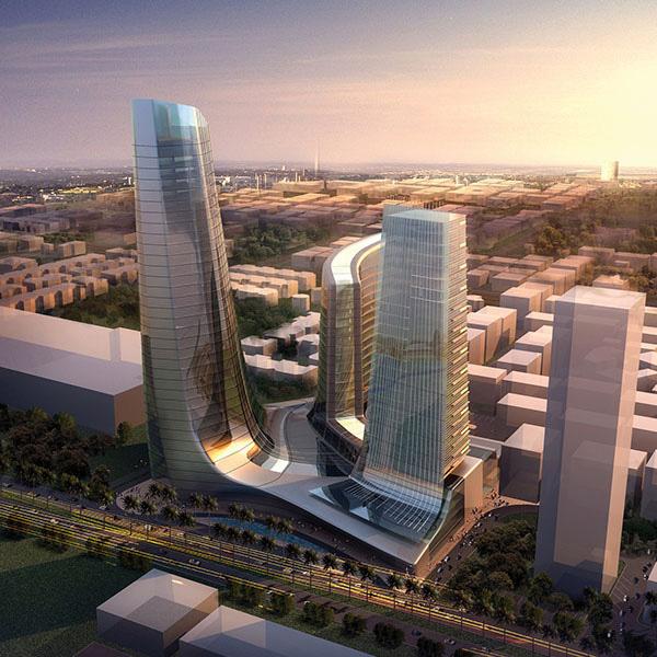 Tập đoàn thiết kế hàng đầu Dubai thiết kế tháp xanh biểu tượng Ecopark - Ảnh 2.