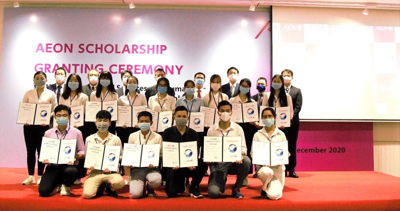 AEON tổ chức trực tuyến lễ trao học bổng lần thứ 12 cho sinh viên Việt Nam - Ảnh 1.