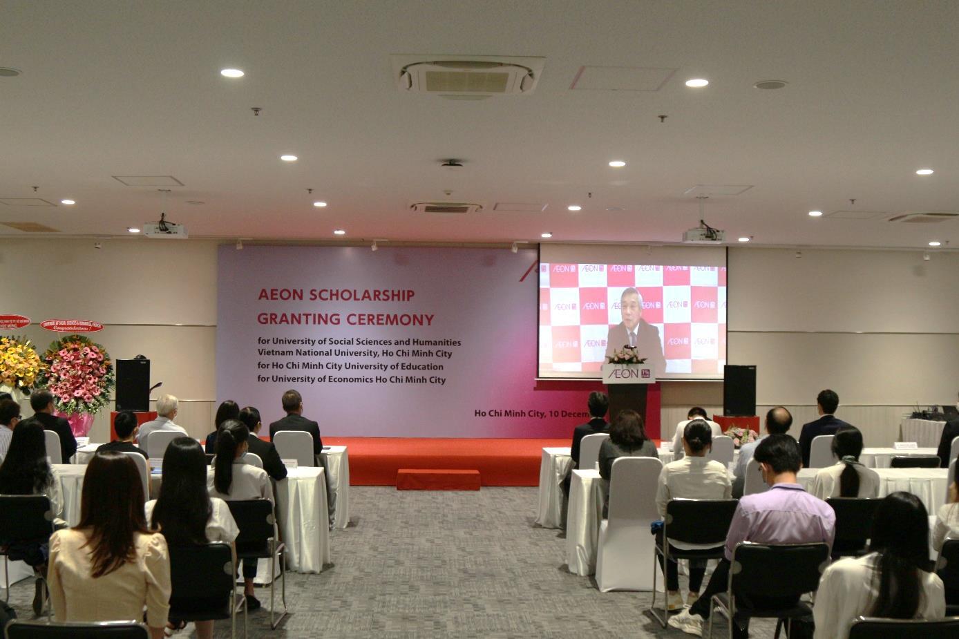 AEON tổ chức trực tuyến lễ trao học bổng lần thứ 12 cho sinh viên Việt Nam - Ảnh 2.