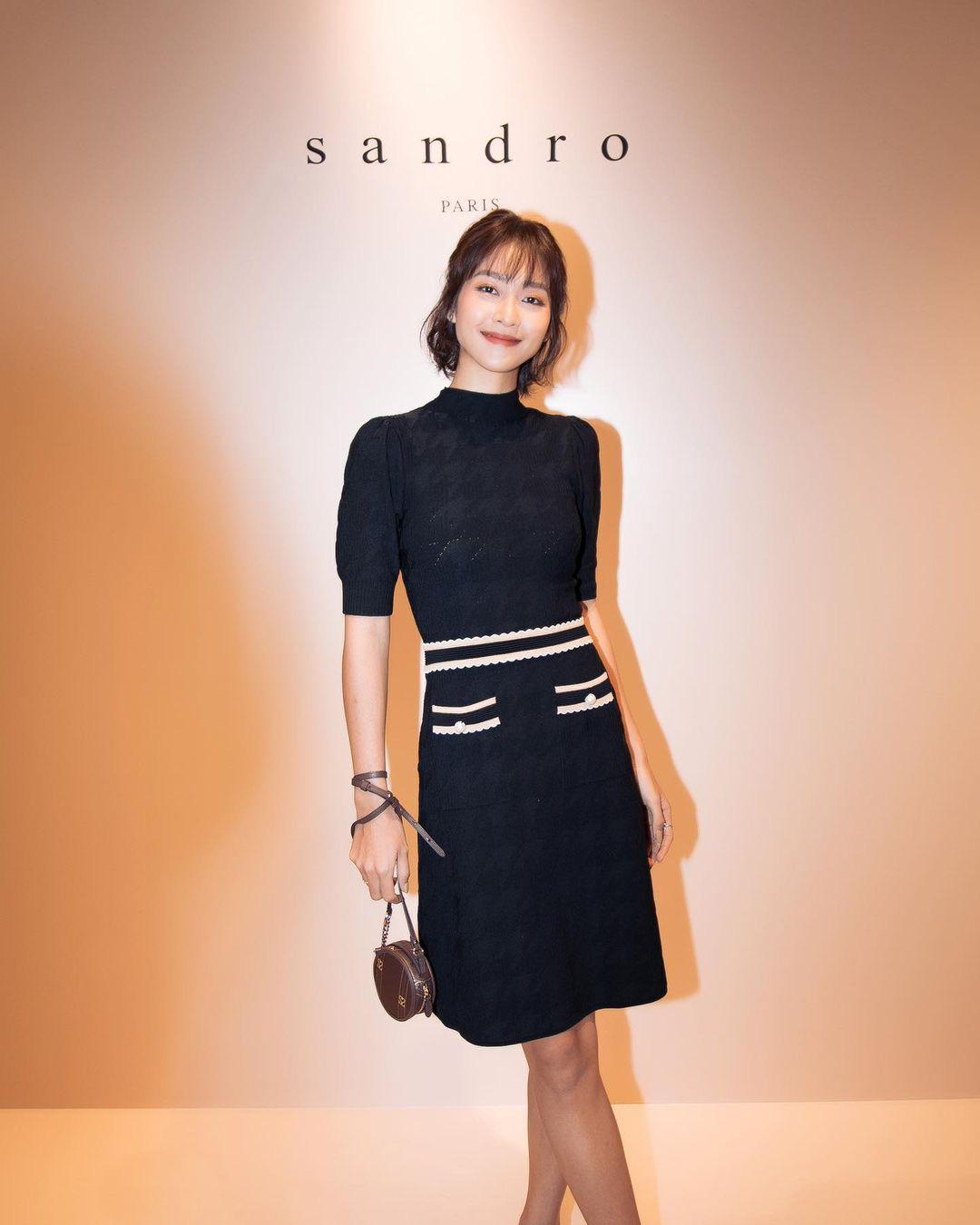 Khả Ngân, Hà Trúc, Monsimi Và Tú Hảo tham dự khai trương cửa hàng Sandro đầu tiên tại Việt Nam - Ảnh 2.