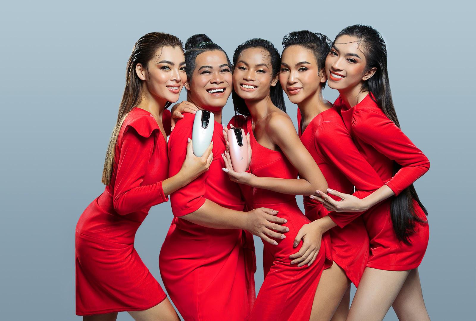 Dàn thí sinh Miss International Queen Việt Nam nóng bỏng cùng sản phẩm của nhà tài trợ - Ảnh 2.