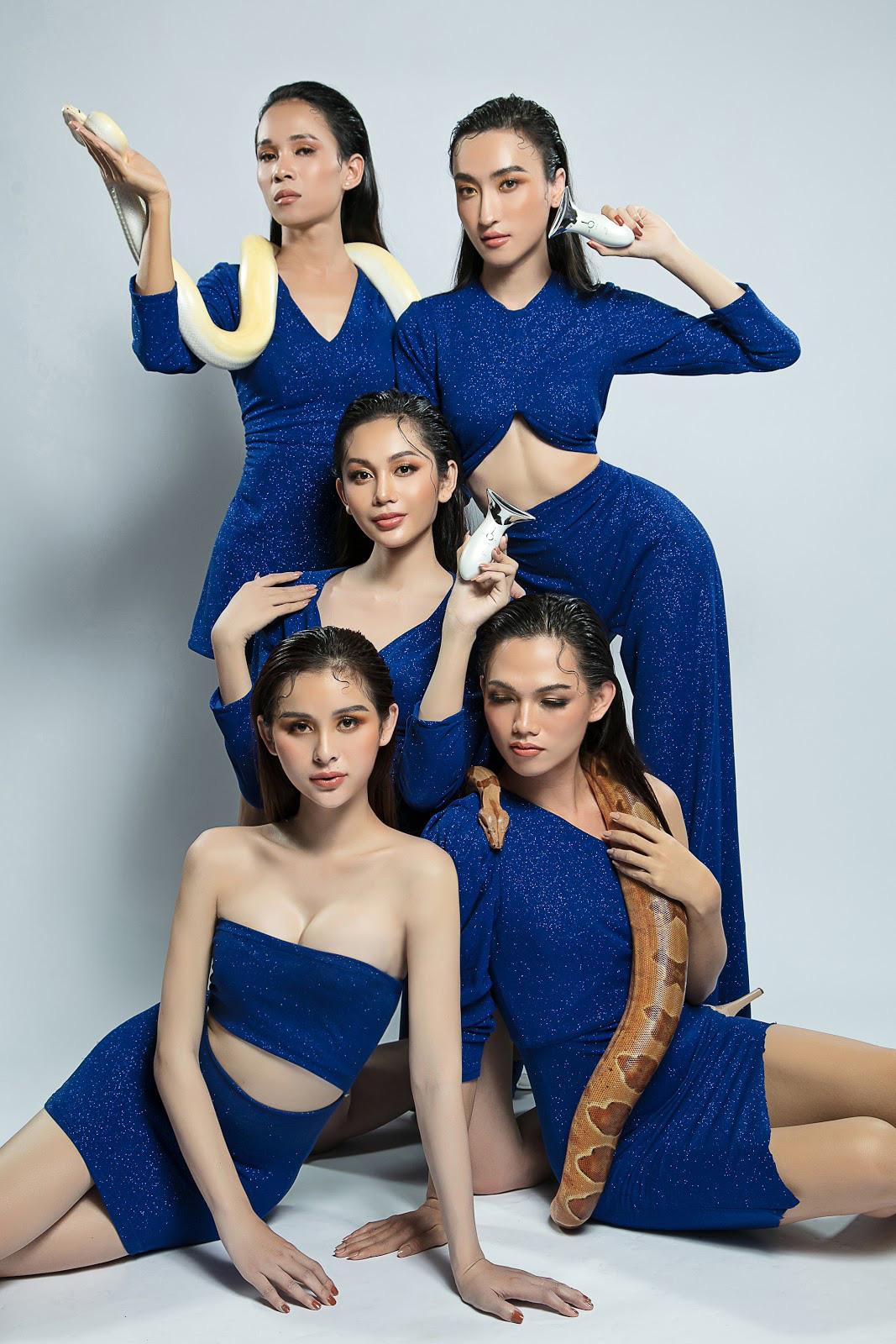 Dàn thí sinh Miss International Queen Việt Nam nóng bỏng cùng sản phẩm của nhà tài trợ - Ảnh 5.