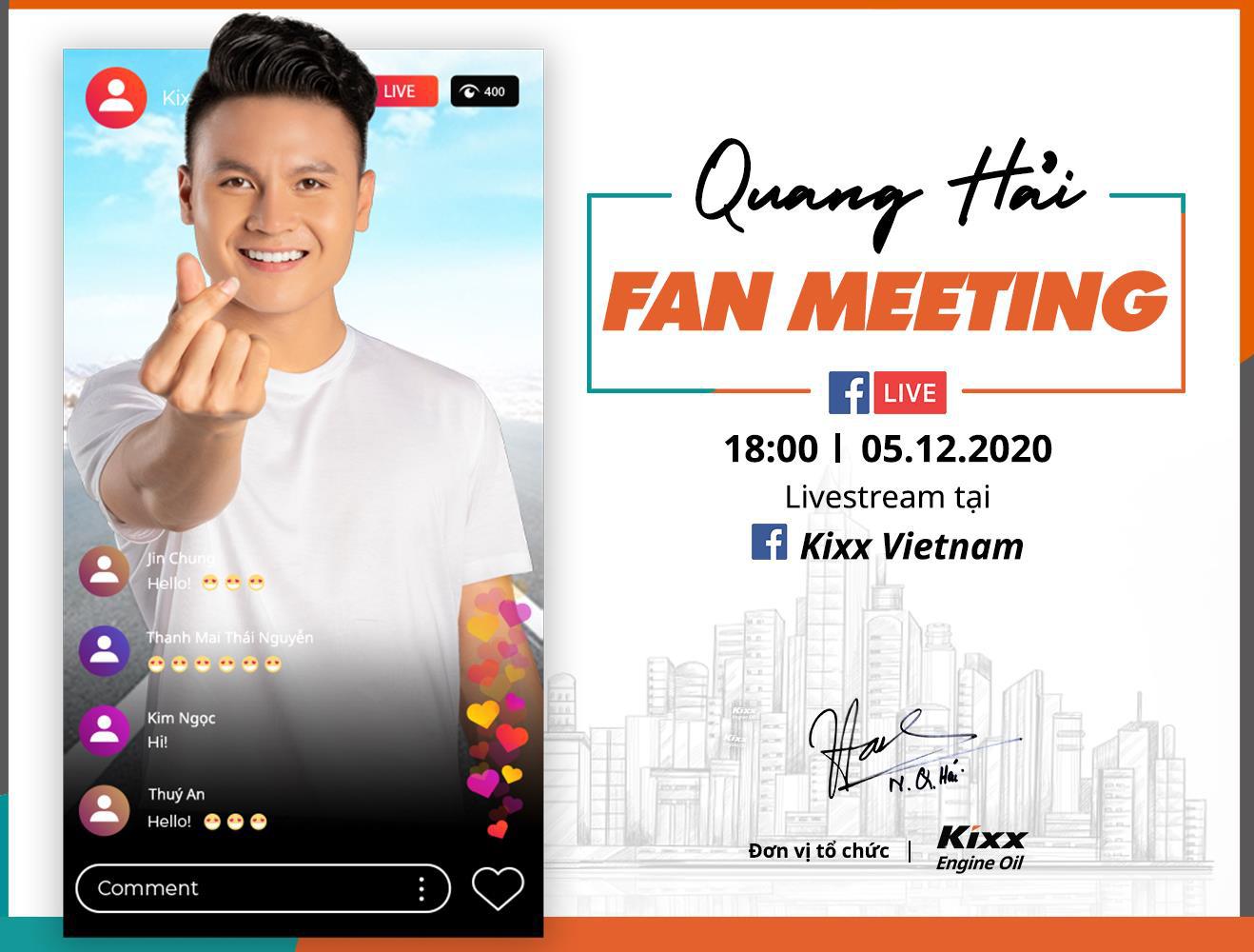 Quang Hải tổ chức fan meeting - Đón xem livestream toàn bộ chương trình trên page Kixx Việt Nam - Ảnh 1.