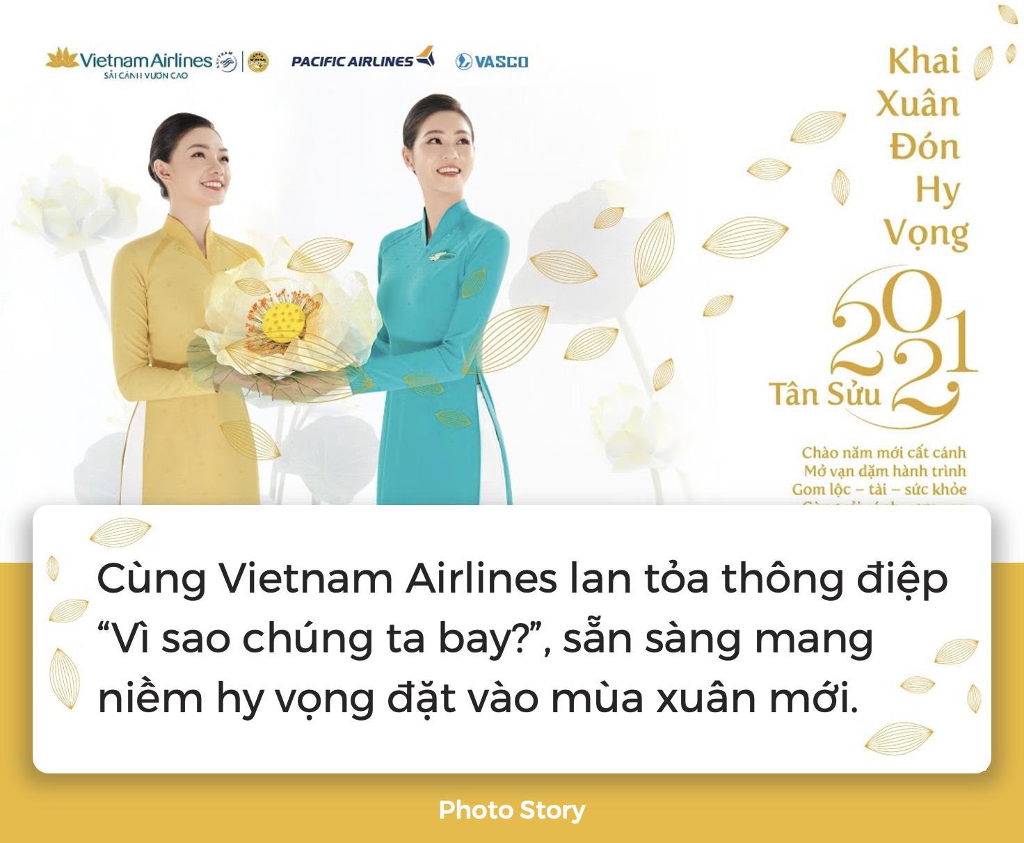 """Cùng Vietnam Airlines lan tỏa thông điệp """"Vì sao chúng ta bay?"""", sẵn sàng mang niềm hy vọng đặt vào mùa xuân mới - Ảnh 1."""