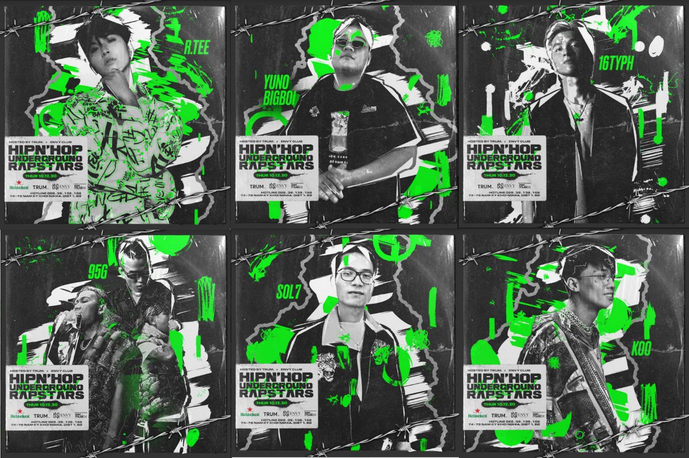 Hip n Hop tung đêm diễn đầu tiên với R.Tee, Yuno Bigboi, 16Typh, 95G, nghe đâu là có cả Dế Choắt? - Ảnh 1.