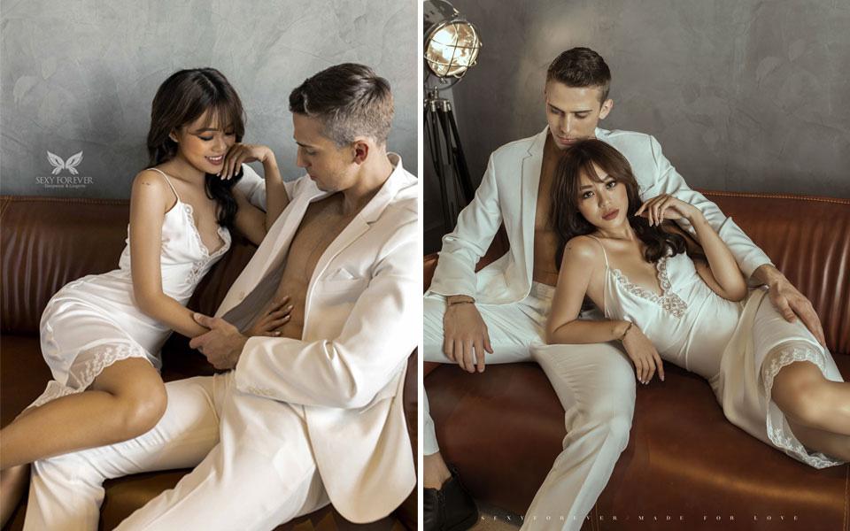 """Mẫu ảnh Kỳ Duyên tình tứ bên chàng Tây """"Người ấy là ai"""" Paulo trong BST đặc biệt """"Made for Love"""" cho dịp Valentine ngọt ngào đến từ Sexy Forever - Ảnh 1."""