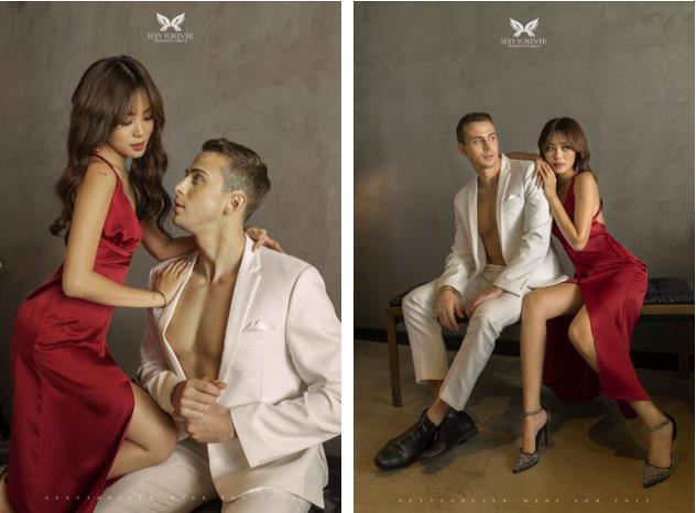 """Mẫu ảnh Kỳ Duyên tình tứ bên chàng Tây """"Người ấy là ai"""" Paulo trong BST đặc biệt """"Made for Love"""" cho dịp Valentine ngọt ngào đến từ Sexy Forever - Ảnh 2."""