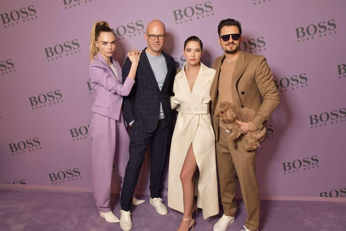 Cara Delevingne diện suit tím nổi bật tại show diễn BOSS Thu Đông 2020 - Ảnh 3.
