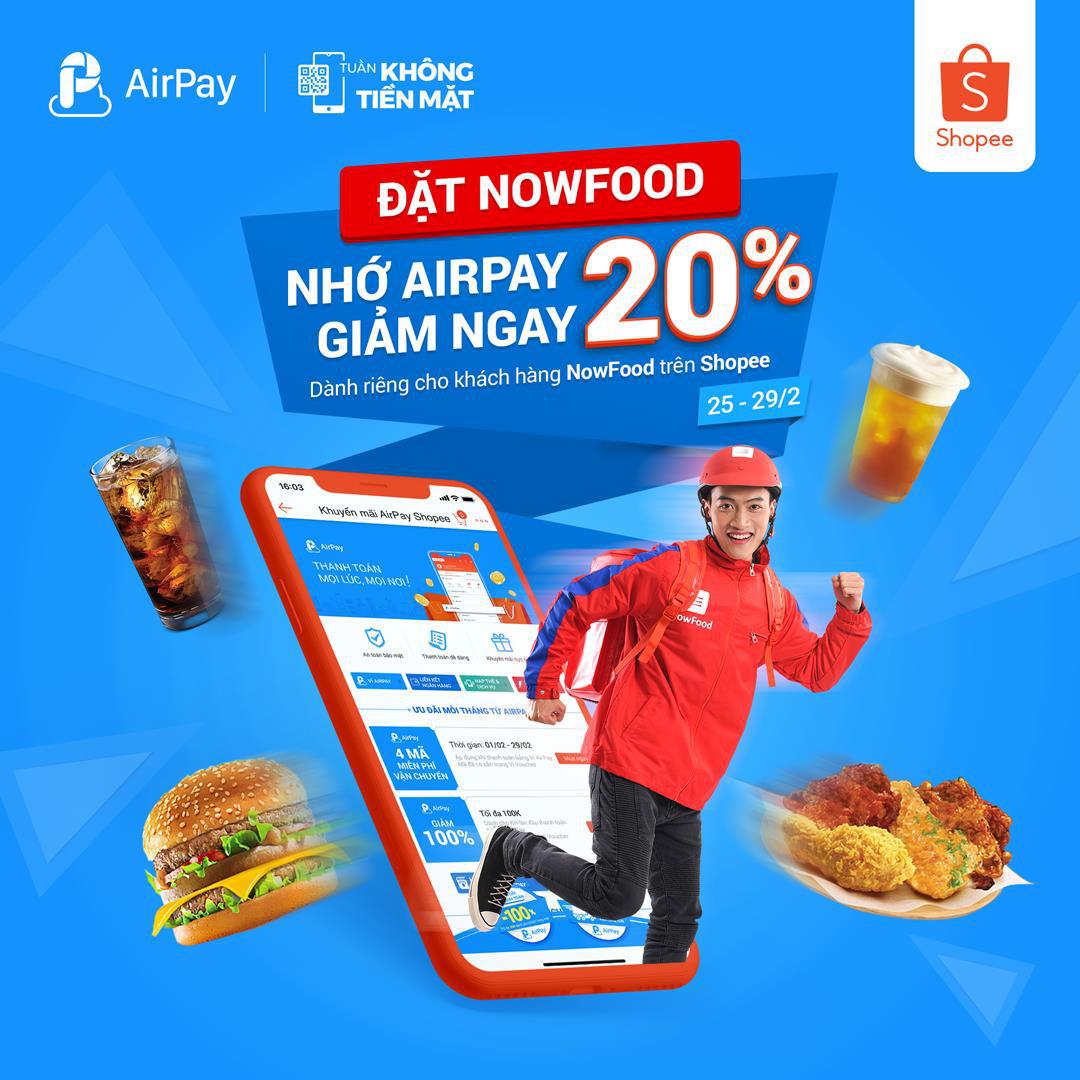 Ăn uống và nạp điện thoại thả ga, AirPay giảm giá 20% trên Shopee từ 25 - 29.02 - Ảnh 6.