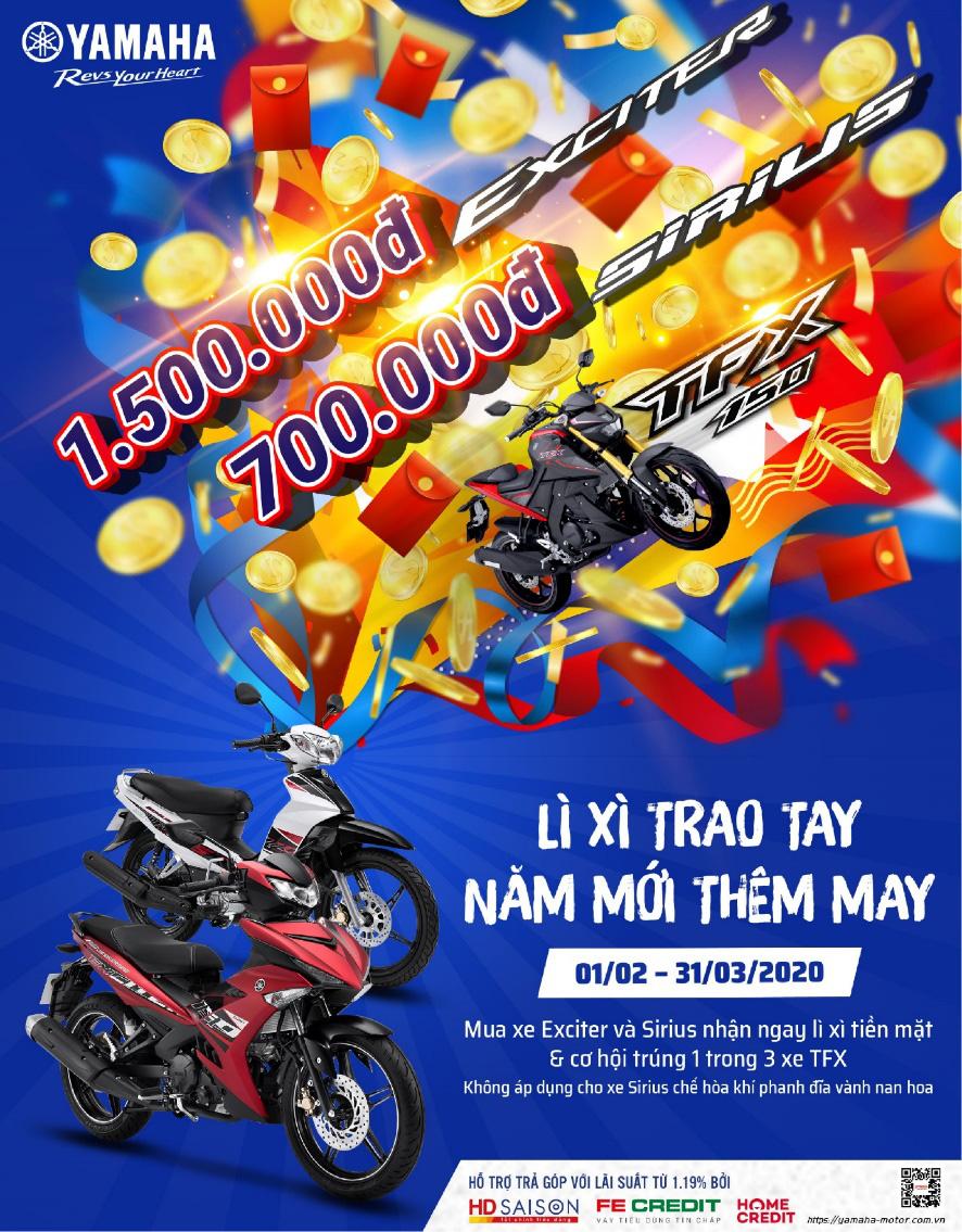 """Yamaha tung các ưu đãi """"hot"""" khiến khách hàng đổ xô đi mua xe sau Tết - Ảnh 2."""