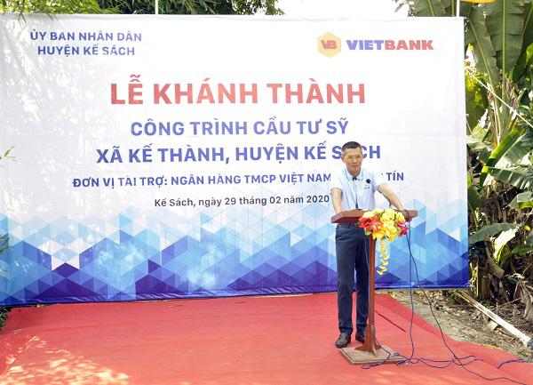 Vietbank khánh thành cầu giao thông nông thôn tại xã Kế Thành, tỉnh Sóc Trăng - Ảnh 1.
