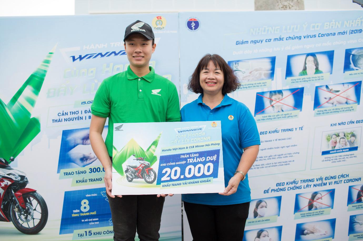 Hành trình Honda Winner chủ động phòng chống dịch COVID-19 cùng 120,000 công nhân - Ảnh 2.