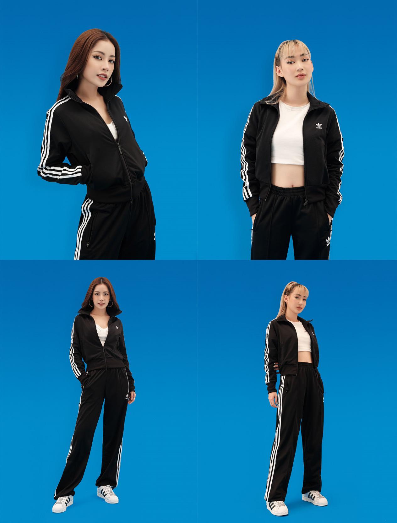 Chẳng cần lên đồ lồng lộn, Blackpink cùng chị em Chi Pu vẫn thể hiện thần thái ngút trời trong set đồ kinh điển nhà adidas - Ảnh 1.