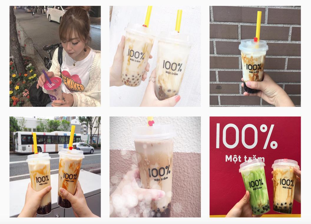 Người Sài Gòn háo hức check in với thương hiệu trà sữa 100% - Một trăm'' gây sốt từ Nhật Bản - Ảnh 1.