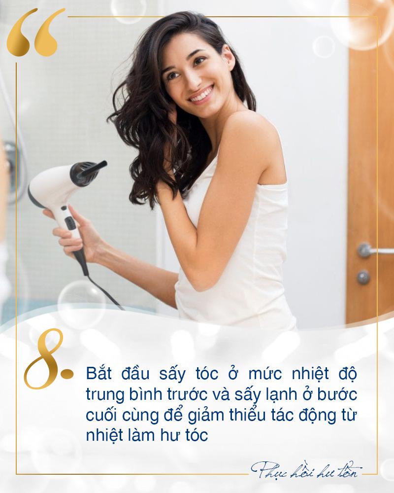 Toàn mẹo chăm sóc phục hồi tóc hư tổn tại nhà đơn giản mà không phải ai cũng biết - Ảnh 8.