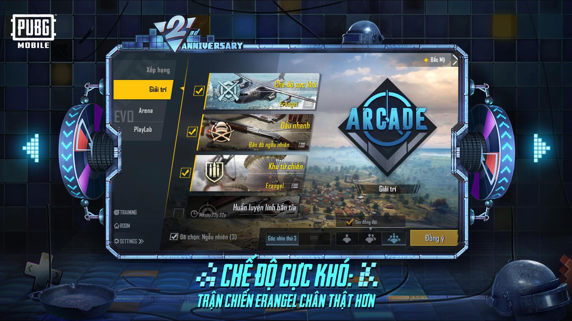 """PUBG Mobile Việt Nam """"cắt bánh sinh nhật"""" với hàng loạt nâng cấp mới: từ dạo chơi Công Viên Giải Trí đến tranh đấu khắc nghiệt ở chế độ Cực Khó! - Ảnh 3."""