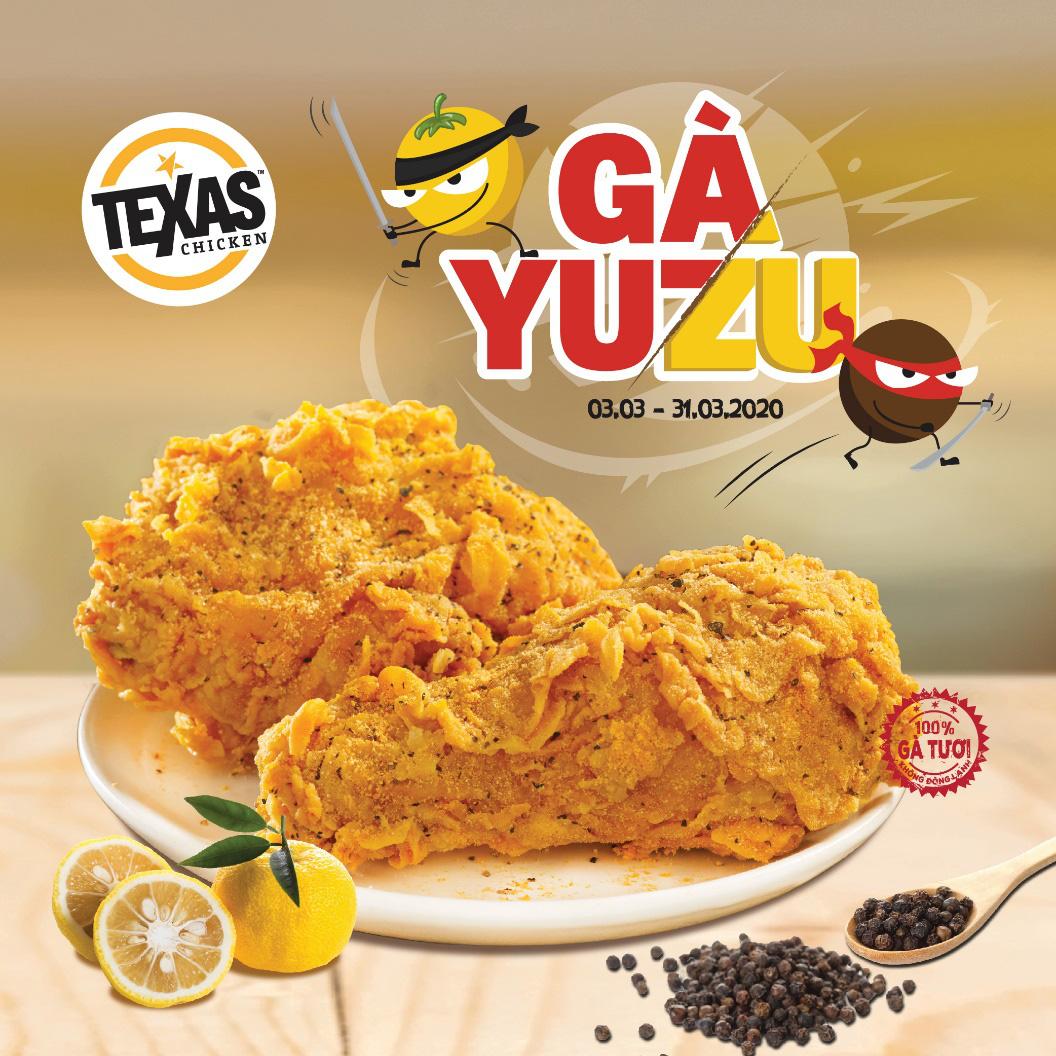 Mê mẩn món mới: gà Yuzu tại hệ thống Texas Chicken - Ảnh 1.