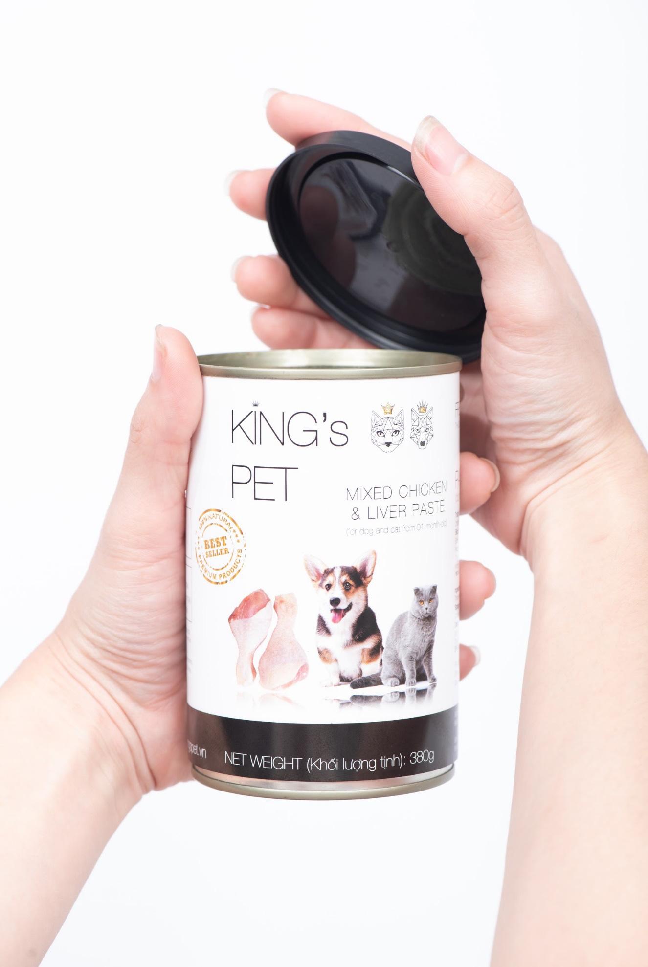 Pate chó mèo King's Pet – Bùng nổ Combo dinh dưỡng tươi ngon giao tận nơi mùa dịch - Ảnh 3.