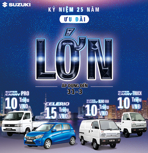 Suzuki Việt Nam ưu đãi hàng chục triệu đồng cho khách mua ô tô tháng 3 - Ảnh 1.