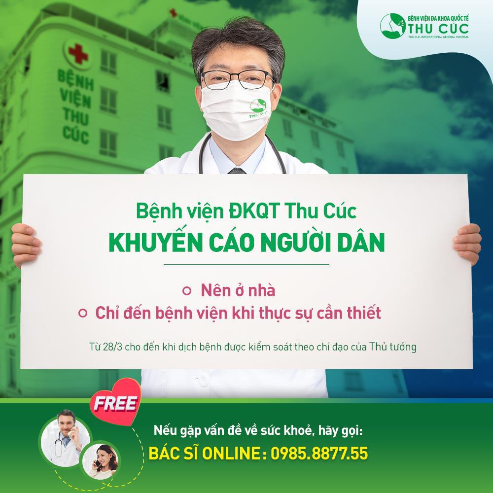 Bệnh viện ĐKQT Thu Cúc tư vấn khám chữa bệnh online miễn phí, sản phụ được hỗ trợ chi phí sinh con và hỗ trợ xe đưa đón - Ảnh 1.