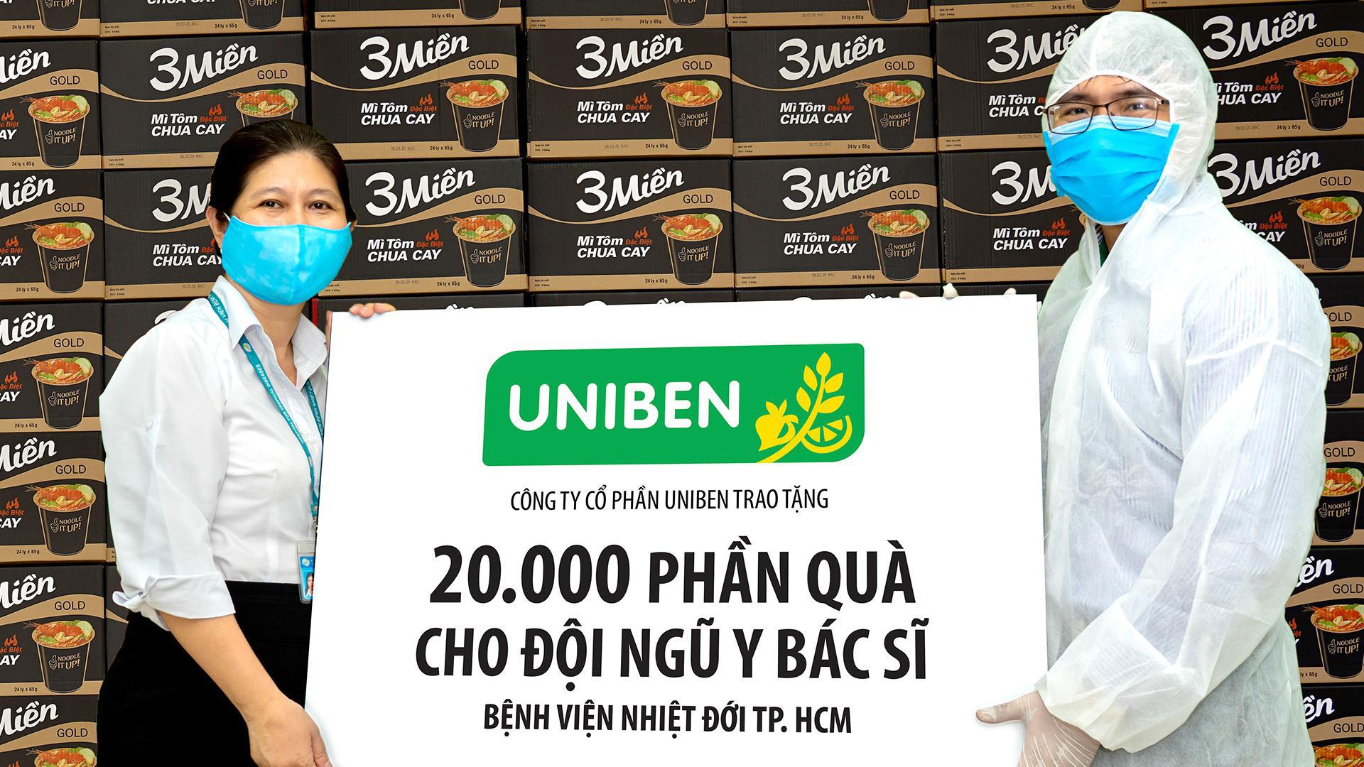 Uniben trao tặng 150.000 bữa ăn dinh dưỡng từ Mì 3 Miền và Nước trái cây Joco cho đội ngũ y bác sĩ các bệnh viện tuyến đầu - Ảnh 2.