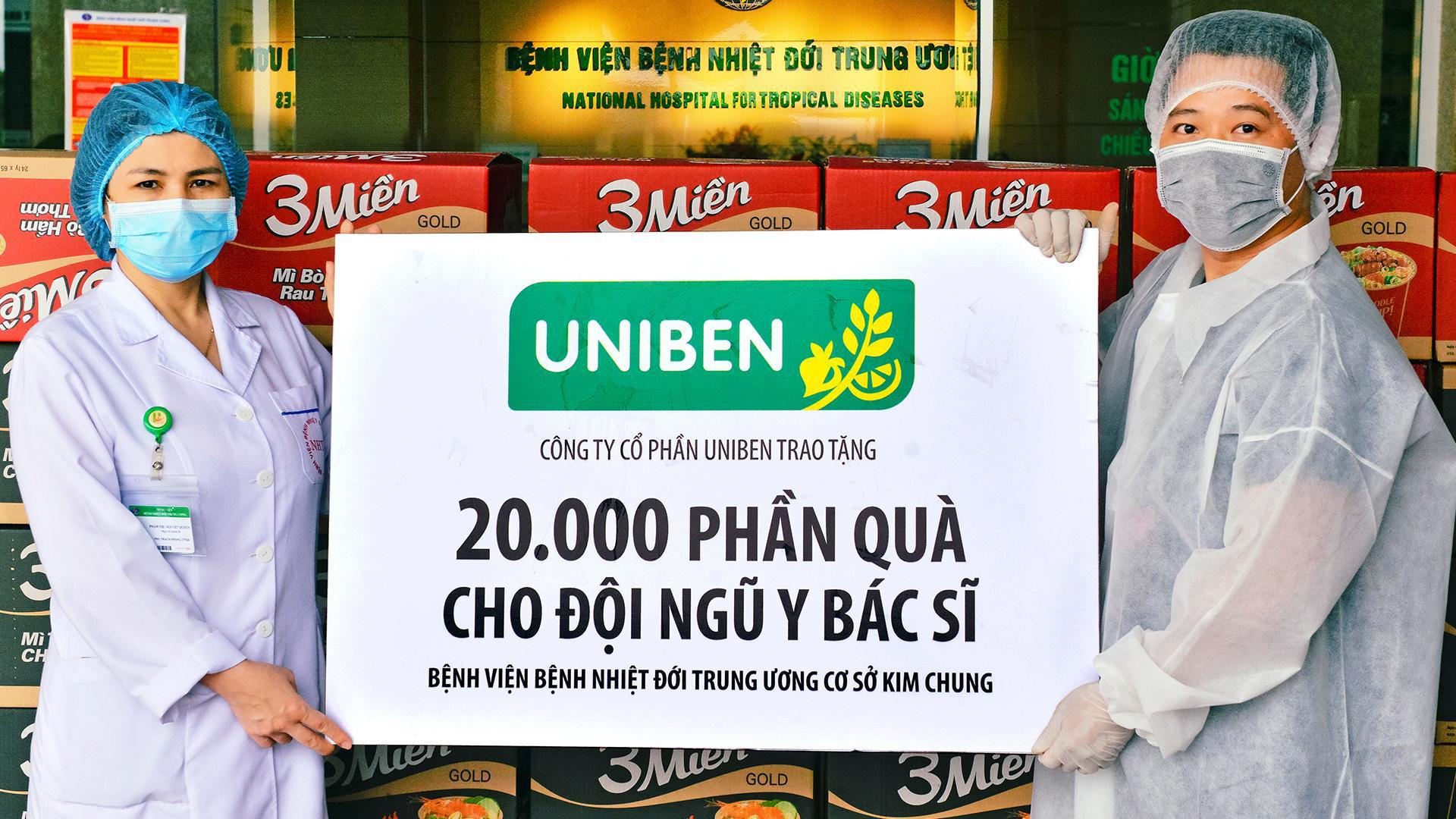 Uniben trao tặng 150.000 bữa ăn dinh dưỡng từ Mì 3 Miền và Nước trái cây Joco cho đội ngũ y bác sĩ các bệnh viện tuyến đầu - Ảnh 6.