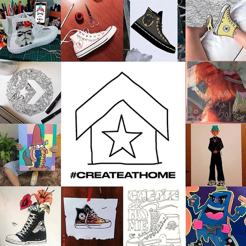 Converse thực tế hóa thương hiệu giữa mùa Covid với #CreateAtHome - Ảnh 1.