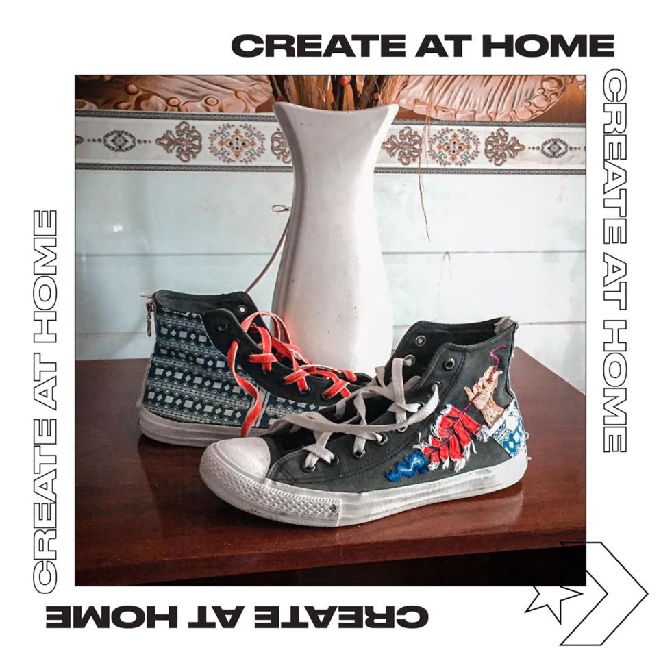 Converse thực tế hóa thương hiệu giữa mùa Covid với #CreateAtHome - Ảnh 4.