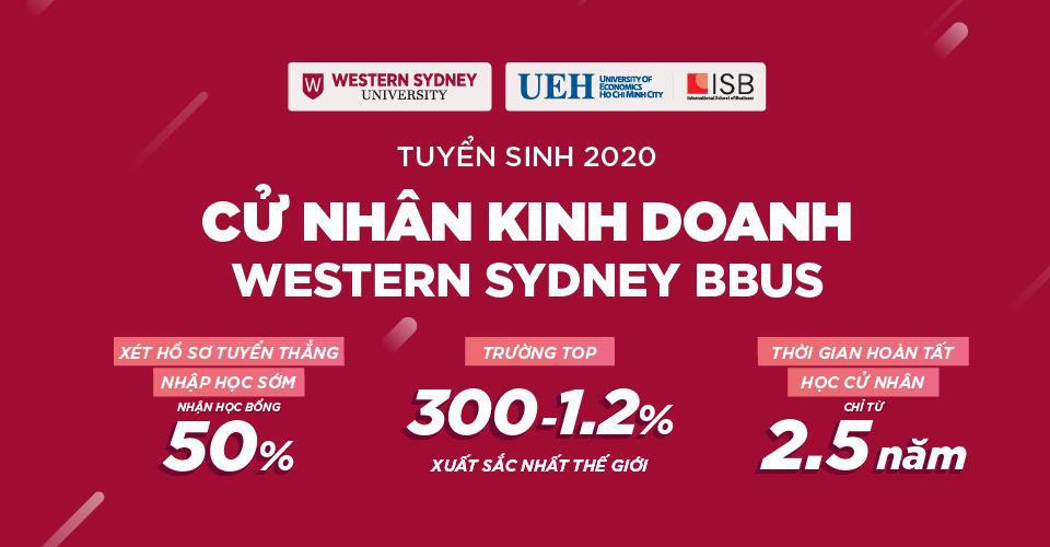 Viện ISB, Đại học Kinh tế TP. Hồ Chí Minh xét hồ sơ tuyển thẳng Cử nhân Kinh doanh Western Sydney BBUS - Nhận học bổng 50% - Ảnh 1.