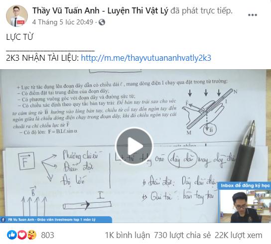 Học Vật lý tưởng khó mà dễ không tưởng với thầy giáo livestream triệu view - Ảnh 3.