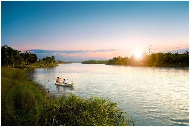 Hồ nước rộng gấp 5 lần hồ Gươm tại dự án Sky Oasis - Ảnh 1.