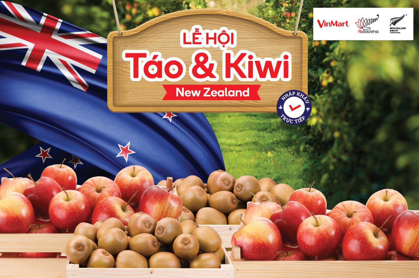 """VinMart tổ chức """"Lễ hội Táo và Kiwi nhập khẩu từ New Zealand"""" - Ảnh 1."""