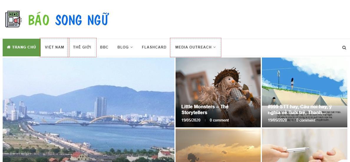 Báo Song Ngữ: Website học tiếng Anh hiệu quả dành cho người Việt - Ảnh 2.