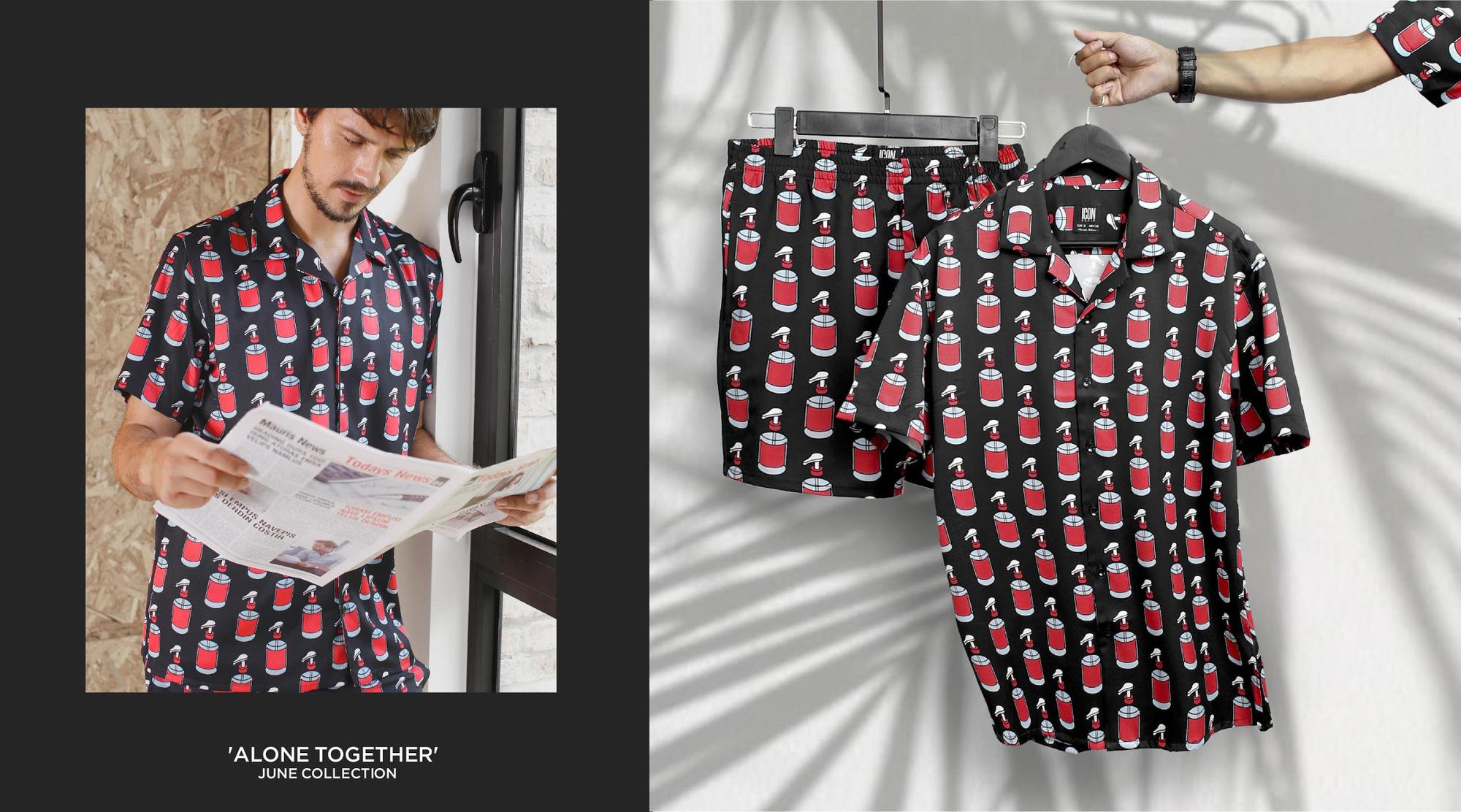 """Set đồ Pijama mặc ra đường mang cảm hứng thắng """"giặc"""" Covid từ Icon Denim - Ảnh 5."""