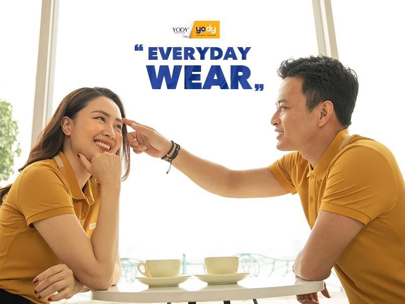 YODY ra mắt dòng sản phẩm Everyday Wear cùng Hồng Đăng - Hồng Diễm - Ảnh 1.