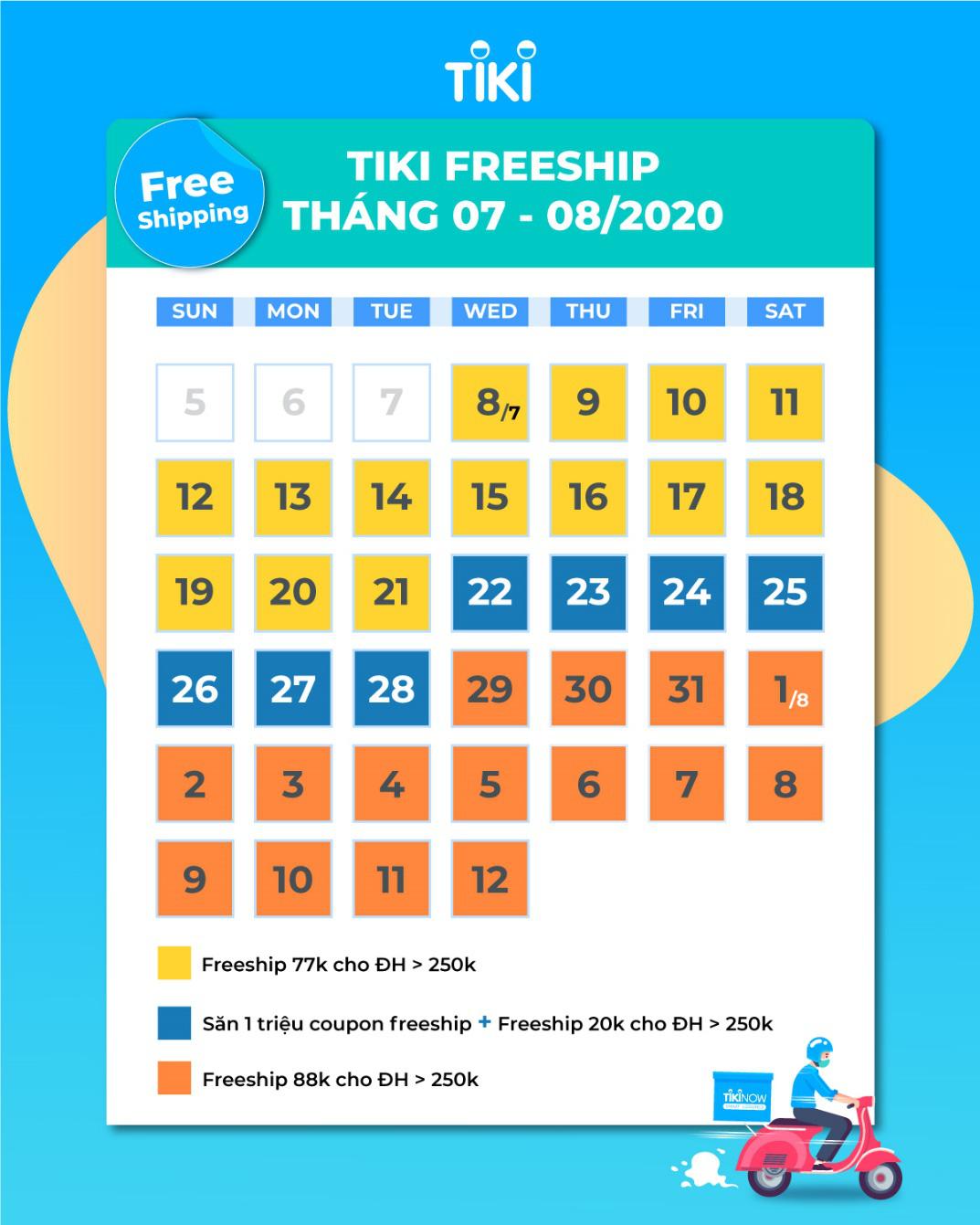 Mát dạ với bão freeship khủng đến 700.000 đồng/khách hàng tại Tiki - Ảnh 1.